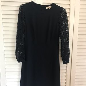 Loft lace sleeved dress